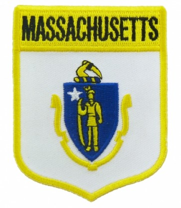 Massachusetts State Flag Shield Patch, 50 State Flag Patches
