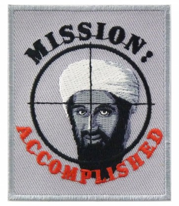 Mission Accomplished Crosshairs Patch, Bin Laden Patches