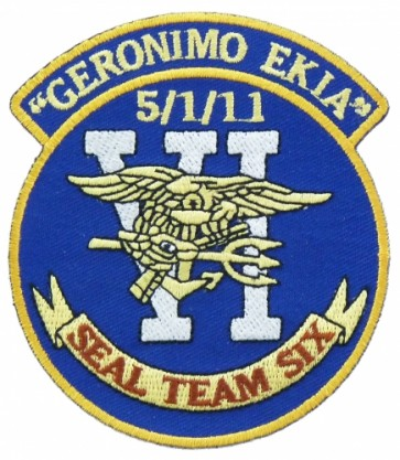 Seal Team 6 Geronimo Ekia Patch, Bin Laden Patches