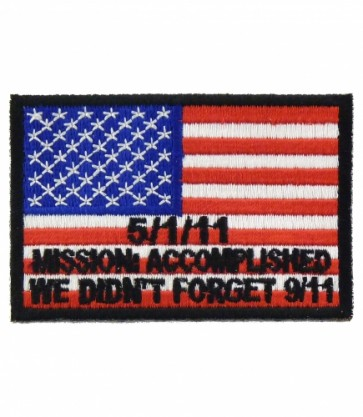Bin Laden Mission Accomplished Patch, U.S. Flag Patches