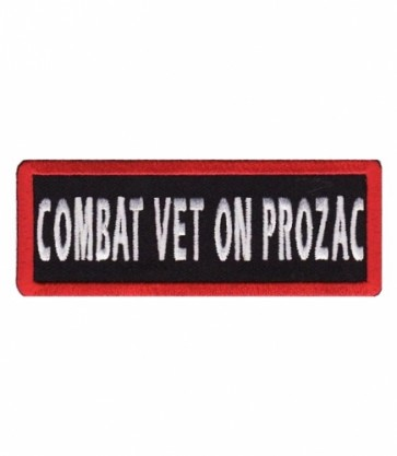 Combat Vet On Prozac Patch, Military Veteran Patches