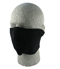 Solid Black Half Face Mask