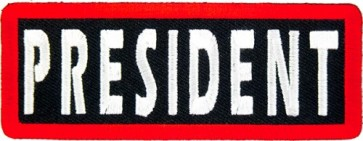 President Patch, Motorcycle Club Rank Patches