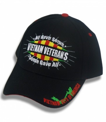 Vietnam Veterans Embroidered Bill, Military Ball Cap