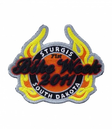 Sturgis, South Dakota 71st Bike Week 2011 Flaming Patch