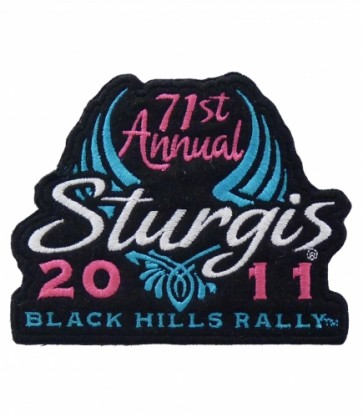 2011 Sturgis 71st Black Hills Rally Blue Wing Event Patch