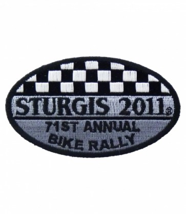 Sturgis 2011 71st Annual Bike Rally Checker Flag Patch