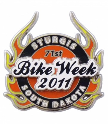 Sturgis, South Dakota 71st Bike Week 2011 Flaming Pin