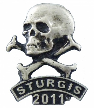 2011 Sturgis Rally Skull & Crossbones Rocker Event Pin