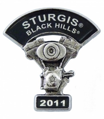 Sturgis Black Hills 2011 V-Twin Motorcycle Engine Pin