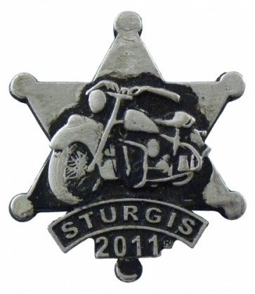 2011 Sturgis Rally Sheriff Star Motorcycle Rocker Event Pin