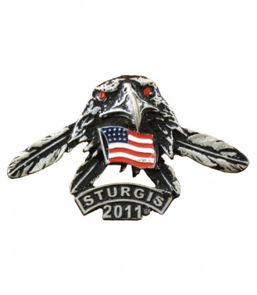 2011 Sturgis Rally Eagle Head Feathers Rocker Event Pin
