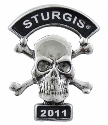 2011 Sturgis Motorcycle Rally Skull & Crossbones Pin