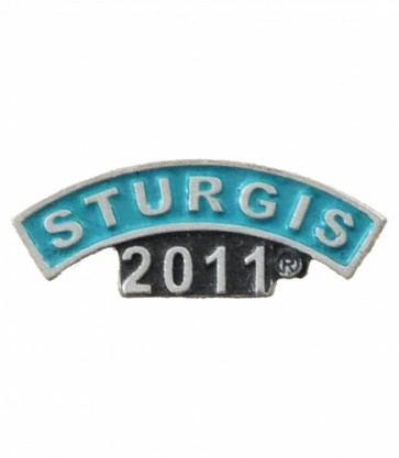 2011 Sturgis Motorcycle Rally Turquoise Rocker Pin