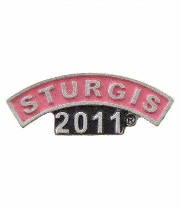 2011 Sturgis Motorcycle Rally Pink Rocker Pin