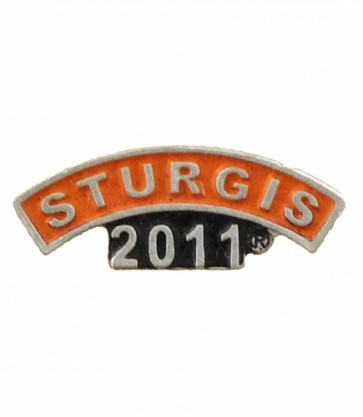 Sturgis 2011 Motorcycle Rally Orange Rocker Pin