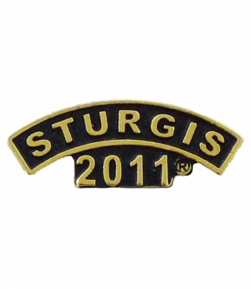 2011 Sturgis Motorcycle Rally Gold Rocker Pin