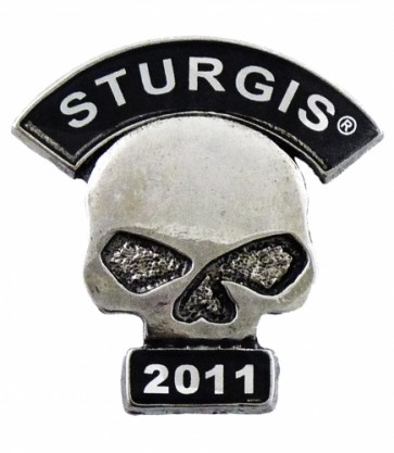 2011 Sturgis Motorcycle Rally Skull Rocker Event Pin