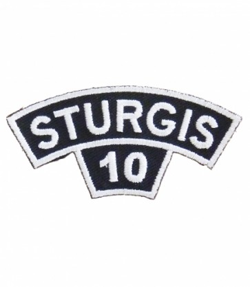 2010 Sturgis Motorcycle Rally White Rocker & Tab Event Patch
