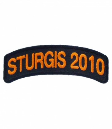 2010 Sturgis Motorcycle Rally Orange Rocker Event Patch