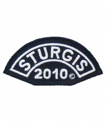 2010 Sturgis Motorcycle Rally White Half Moon Event Patch