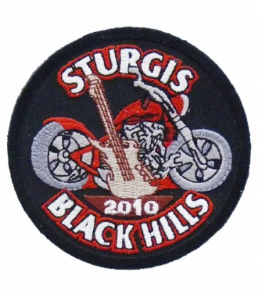 Sturgis 2010 Black Hills Guitar & Motorcycle Patch