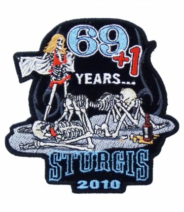 69 + 1 Skeletons Sturgis 2010 Event Patch