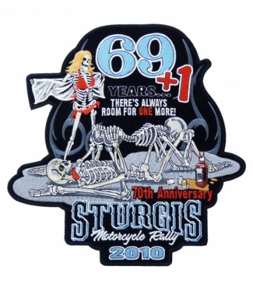 69 + 1 Skeletons Sturgis 2010 Large Event Patch