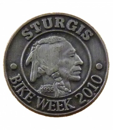 Sturgis Bike Week 2010 Grey Indian Event Pin
