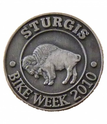 Sturgis Bike Week 2010 Grey Buffalo Event Pin