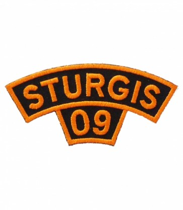 Sturgis Motorcycle Rally 2009 Orange Rocker Patch