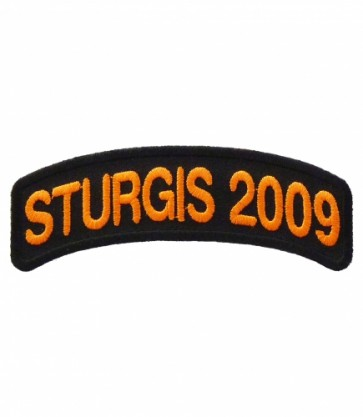 Sturgis Black Hills Rally 2009 Orange Rocker Patch