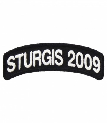 Sturgis Black Hills Rally 2009 White Rocker Patch
