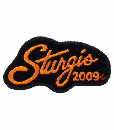 Sturgis 2009 Motorcycle Rally Orange Script Patch