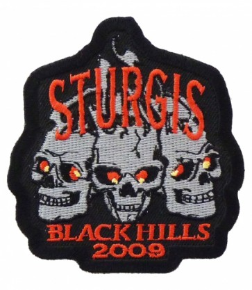 Sturgis 2009 Black Hills 3 Skulls Event Patch