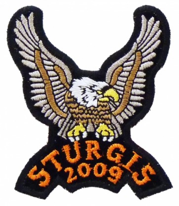 Sturgis 2009 Brown & Tan Eagle Upwing Patch