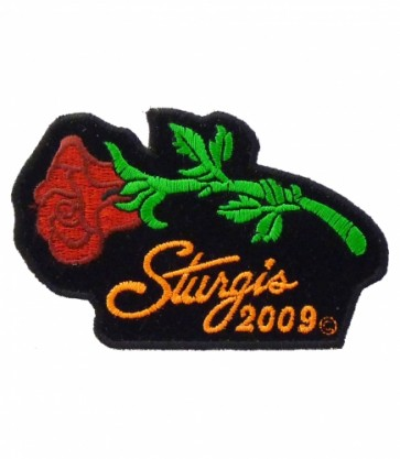 Sturgis 2009 Bike Rally Red Rose Event Patch