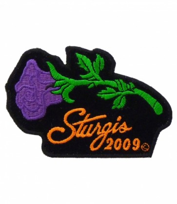 Sturgis 2009 Bike Rally Purple Rose Event Patch