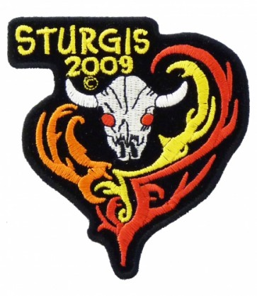 Sturgis 2009 Black Hills Rally Bull Skull Patch