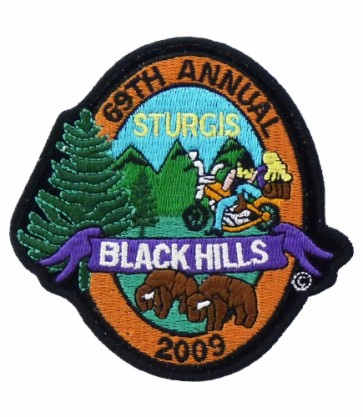 69th Sturgis Black Hills 2009 Scenic View Event Patch