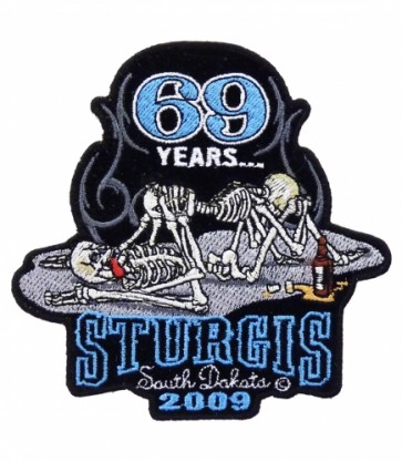 69 Years Sturgis 2009 69 Skeletons Event Patch