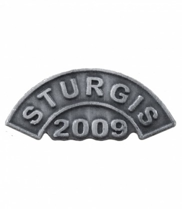 Sturgis 2009 Motorcycle Rally Grey Rocker Pin