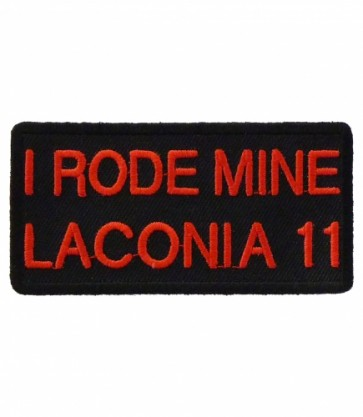 I Rode Mine Laconia 2011 Red & Black Iron On Event Patch