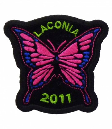 Laconia Motorcycle Week 2011 Pink Butterfly Patch