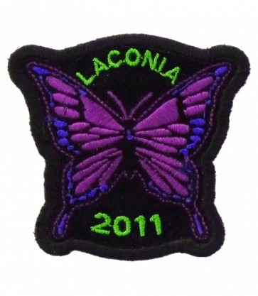Laconia Motorcycle Week 2011 Purple Butterfly Patch