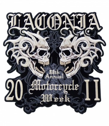 Laconia 2011 Motorcycle Week Large Skull Patch
