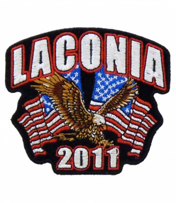 2011 Laconia Motorcycle Week Eagle & Flags Patch