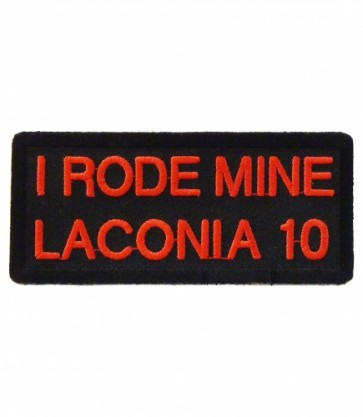 I Rode Mine Laconia 2010 Red Event Patch