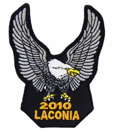 2010 Laconia Motorcycle Week Silver Eagle Patch