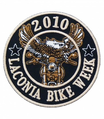 Laconia 2010 Bike Week Round Eagle Biker Patch